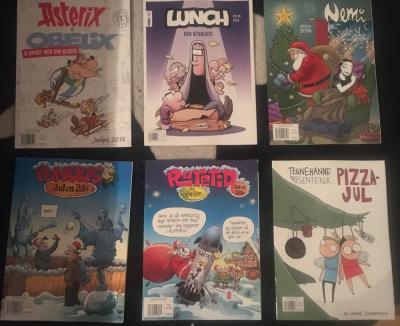 Humoristiske julehefter, underholdende historier!