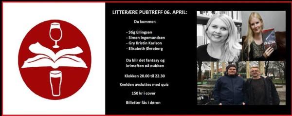 Litterære pubtreff 06. april er avlyst!