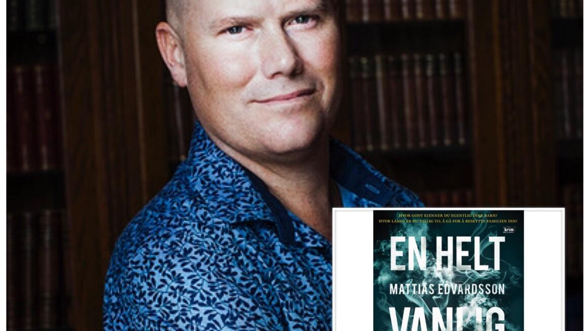 """Sesongavslutning av """"Digi-forfatterintervju i landsbyen"""", tredje ut denne siste helgen er svenske Mattias Edvardsson"""