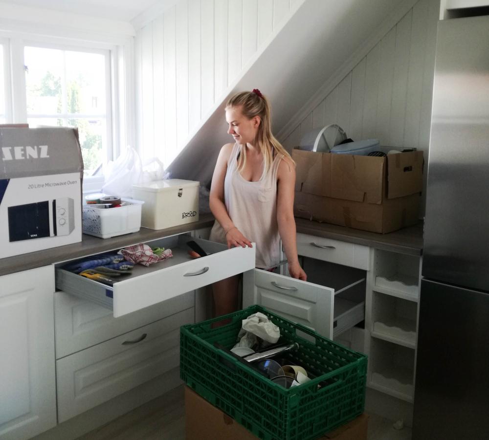 Første bildene av den nye leiligheten