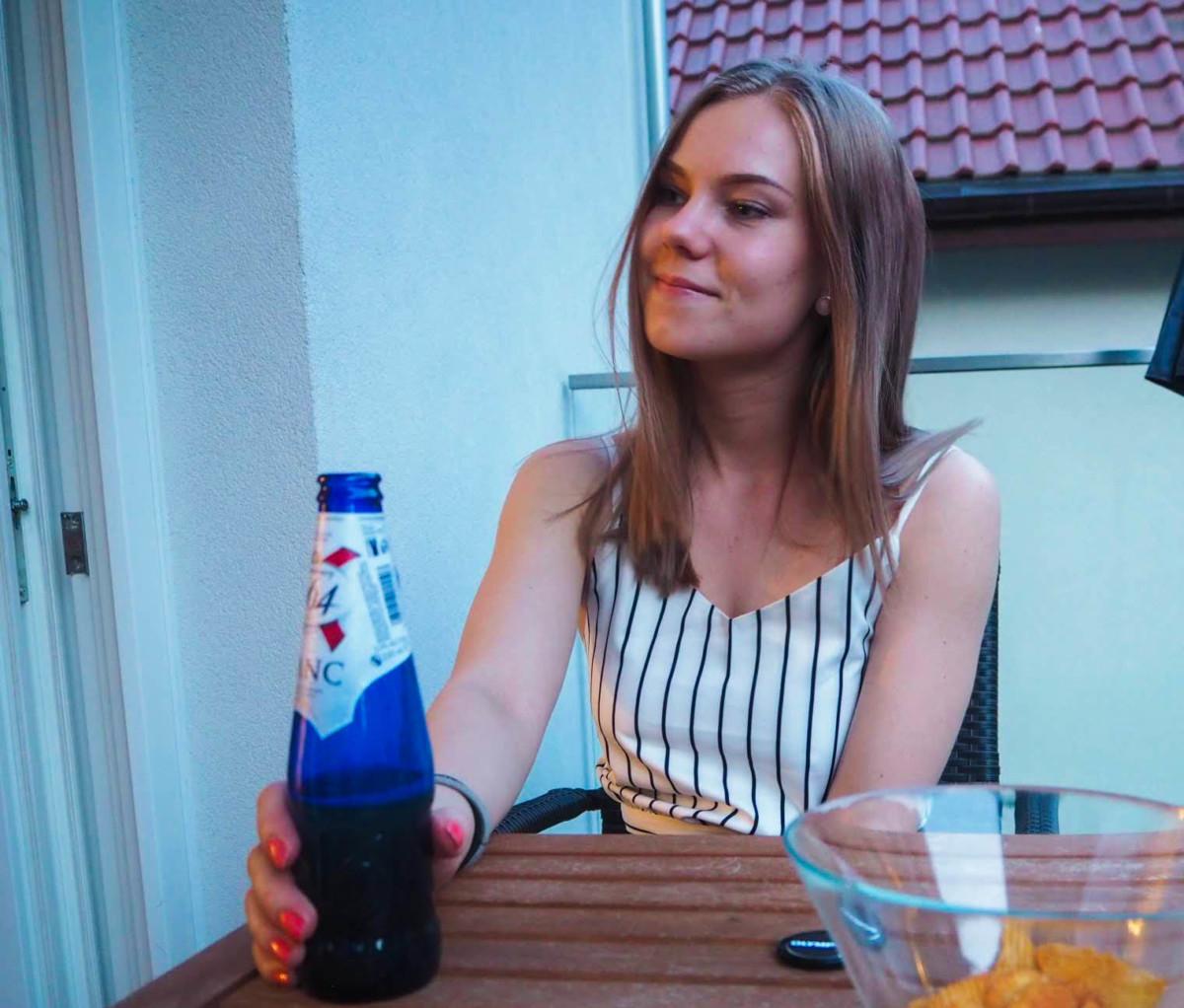 Øl på veranda