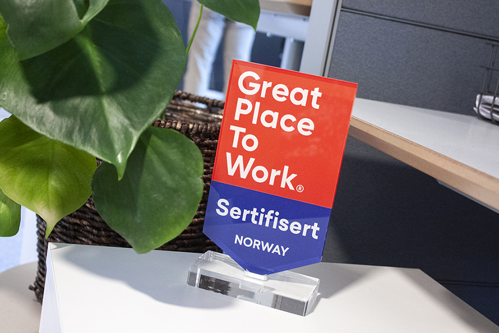 Great place to work skilt
