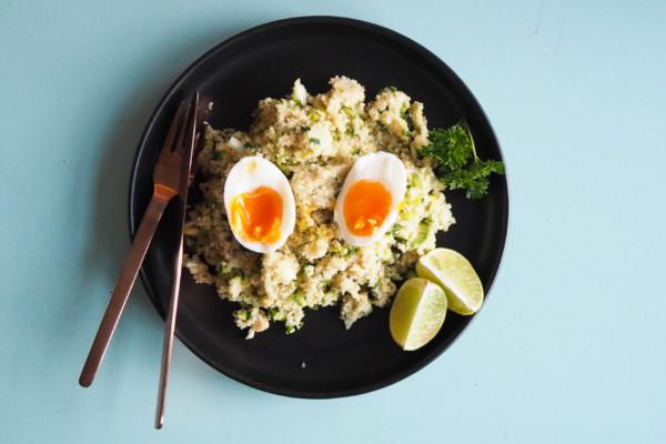 Oppskrift: Vegetar couscous-salat med egg