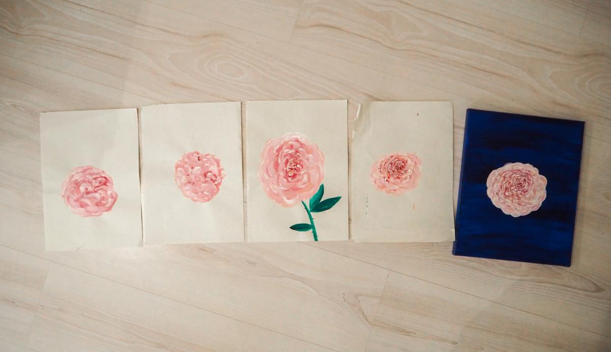 Male blomst