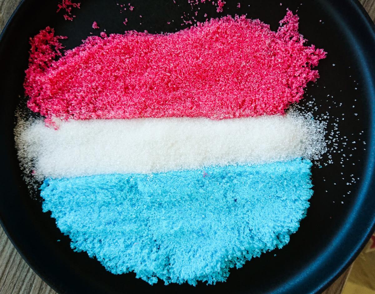 Rødt og blått sukker