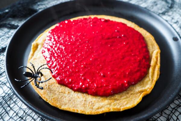 Halloweenfrokost: Blodige pannekaker