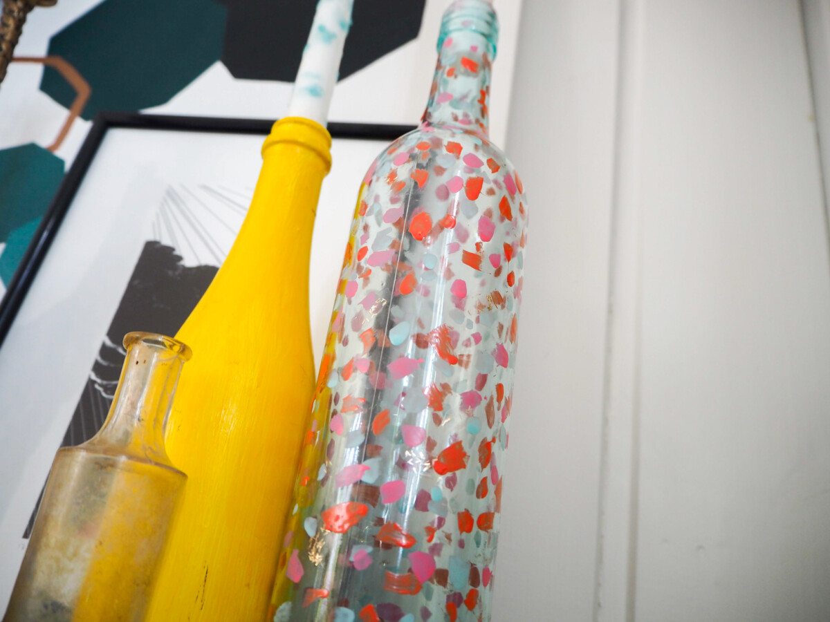 DIY neglelakk glasslysestake