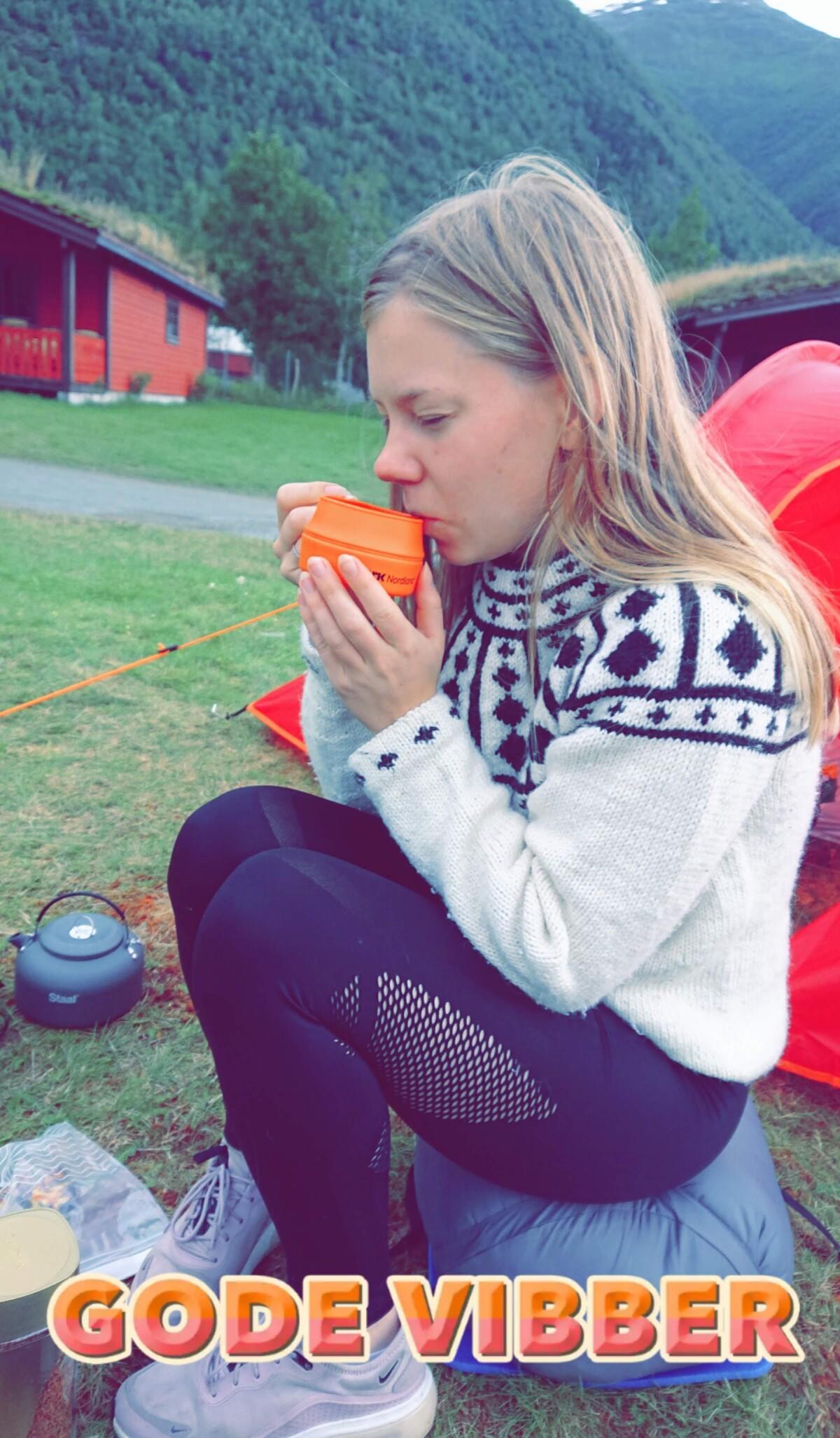 Trøtt på Camping i Loen