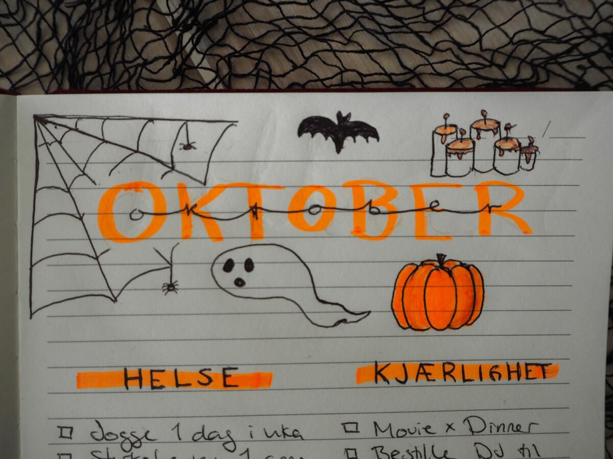 Oktober bullet journal