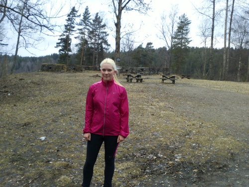 22 april 2013 Nøklevann rundt med Lena