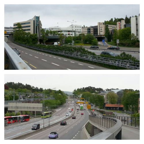 Landevei; Sandvika – Haraløkka via Svartdalen