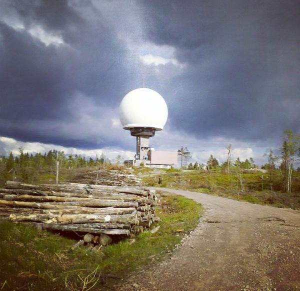 Østmarka; NVR – Branntårnet med hodelykt…