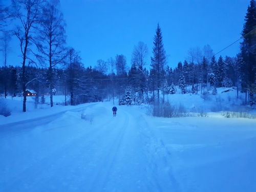 Østmarka; på ski fra Haraløkka – Sør-Elvåga – Klokkerud….