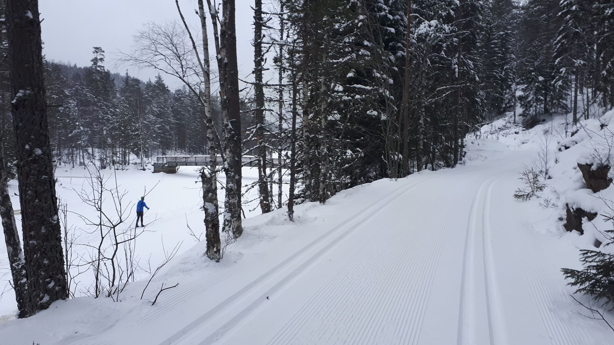 Skitur i Østmarka fra Haraløkka til Sør-Elvåga – Eriksvann….