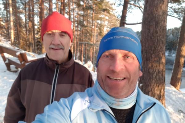 Østmarka; fra slippers til joggesko på snødekte stier, Haraløkka – Langvann – t/r….