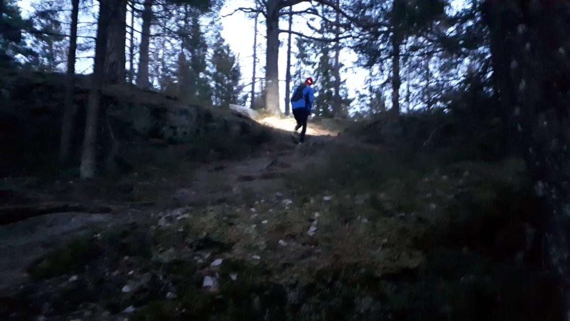 Østmarka; Stiløping med hodelykt til Kroktjern og Haukåsveien….