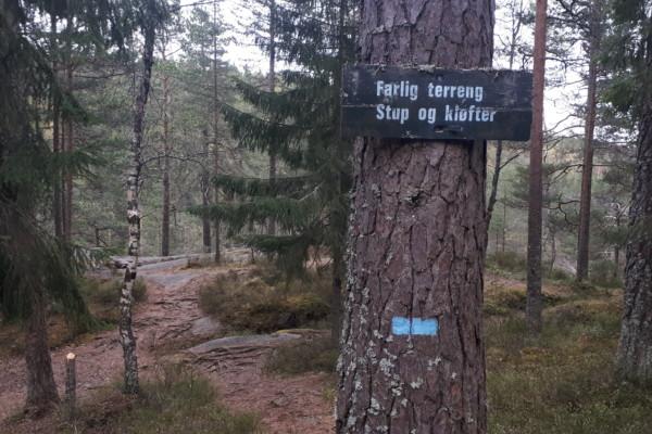 Østmarka; Kroktjern – Lauvtjern rundt – Hauktjernkløftene og Hauktjern…