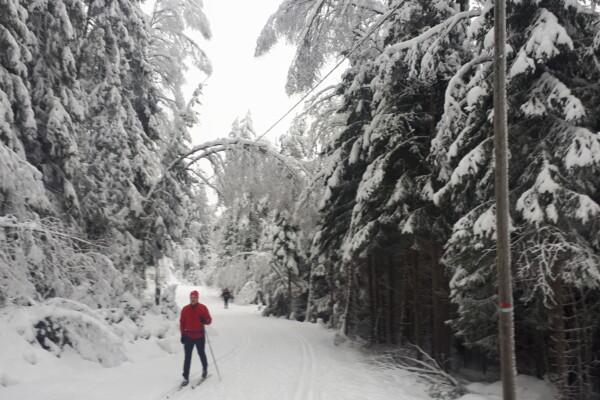 Skitur i Østmarka fra Haraløkka til Ekerud – Nuggerud – Mariholtet…..