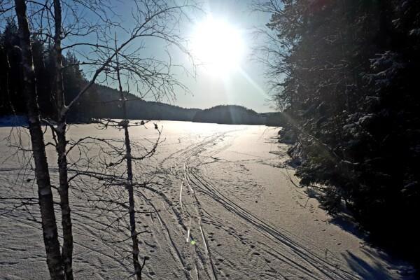 Østmarka; På ski over Nøklevann – Sør-Elvåga og Nord-Elvåga…