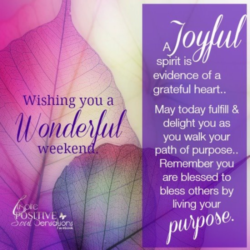 Wonderful weekend!