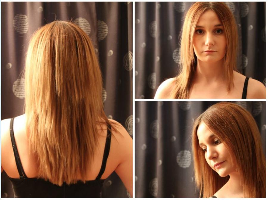 klippe opp langt hår