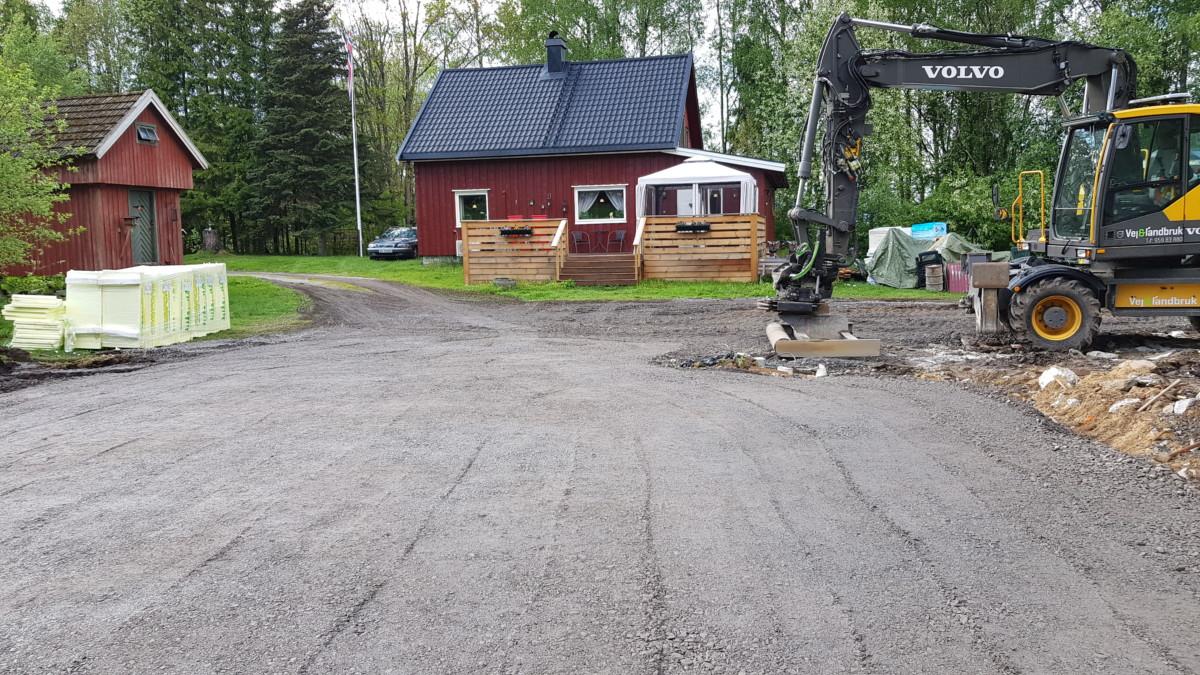 Prosjekt garasje er klar til støping.