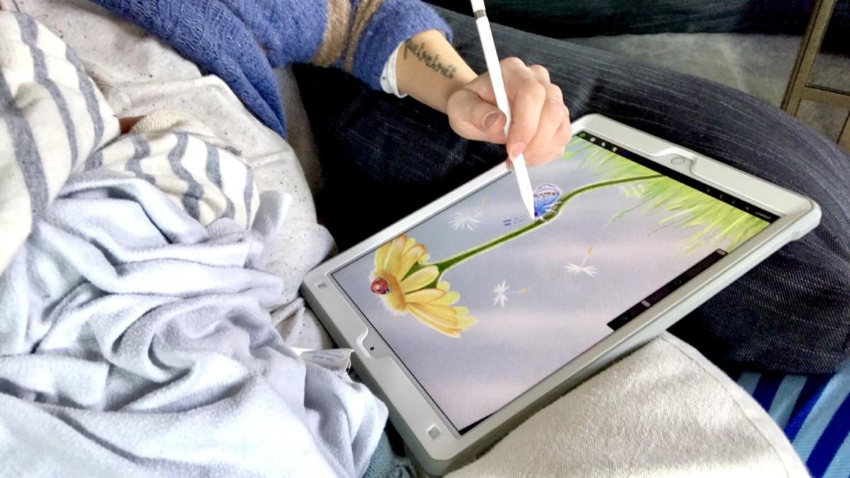 iPad pro digital tegning