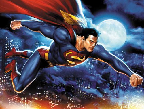 supermann og lurer kvinne hekte