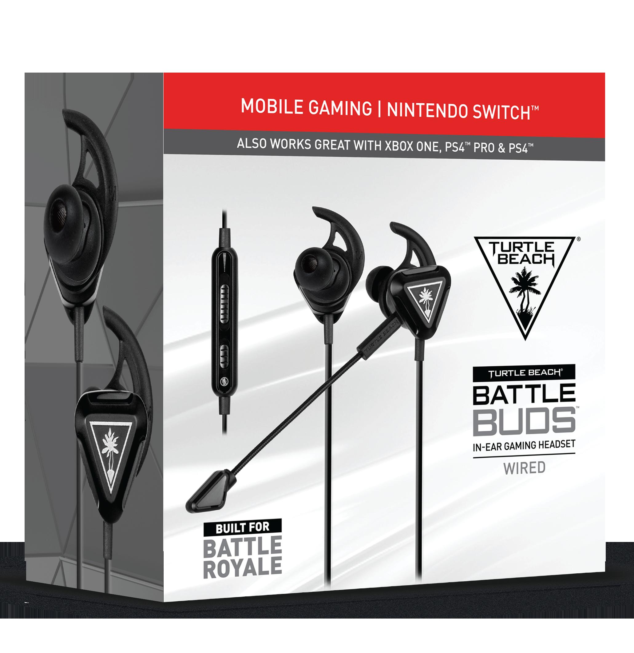 Turtle Beach Battle Buds Black PS4 Øreplugger med mikrofon