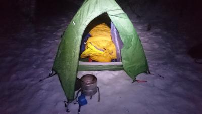 Friluftsmann i Lofoten – Å ligge ute om vinteren