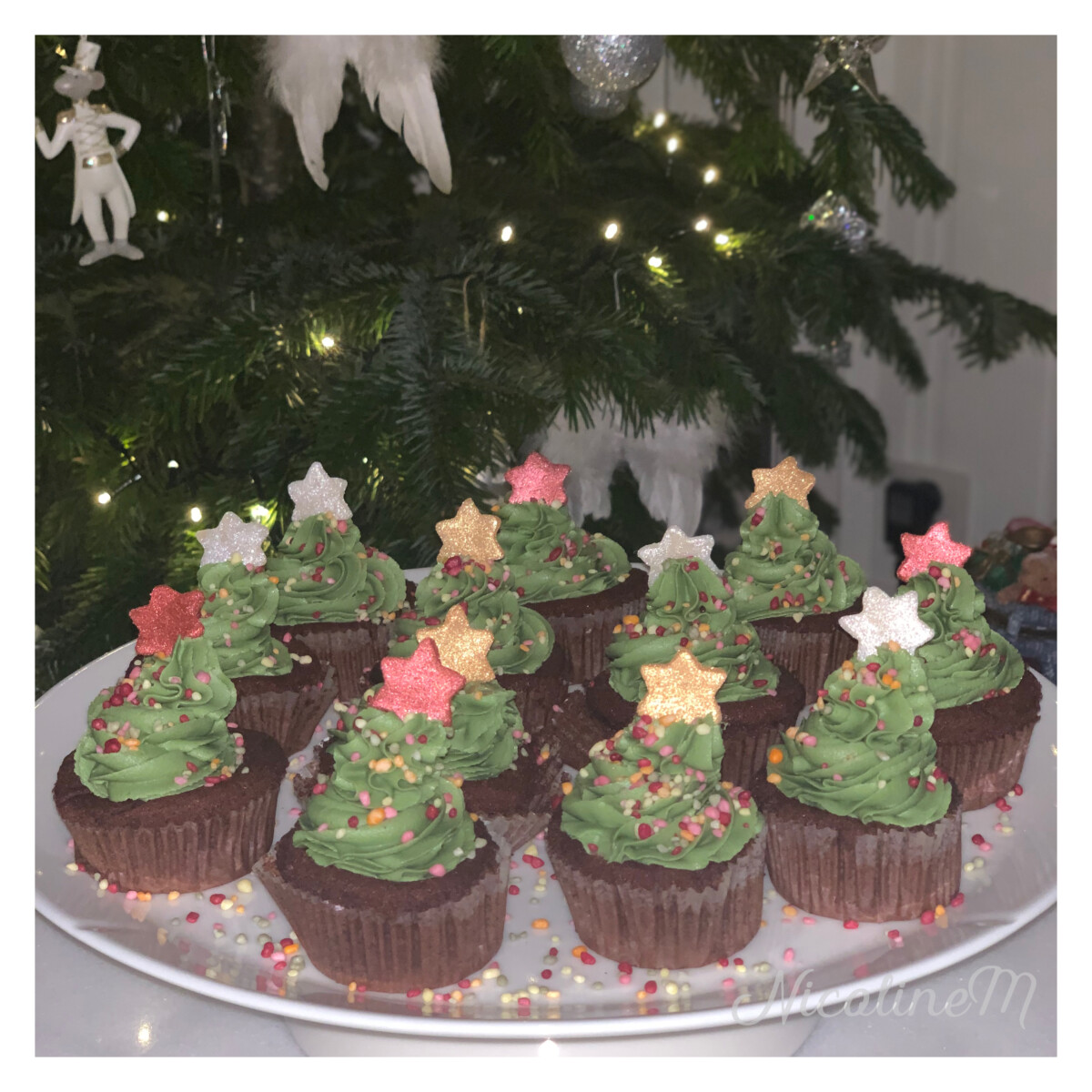 Juletre cupcakes