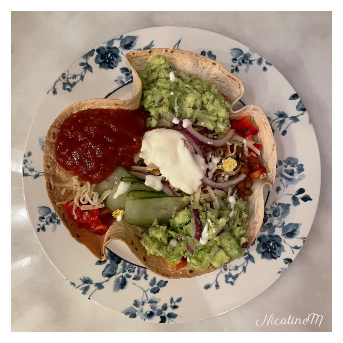 Vegetarisk tacosalat