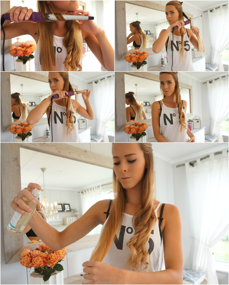 hvordan krølle håret med krøllstav