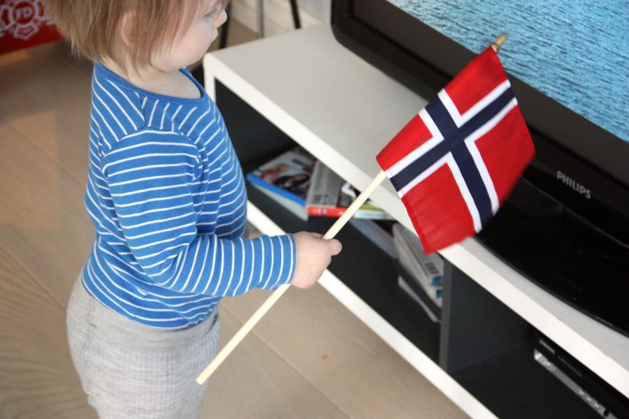 Ny. Hvite sko med norsk flagg17 mai | FINN.no