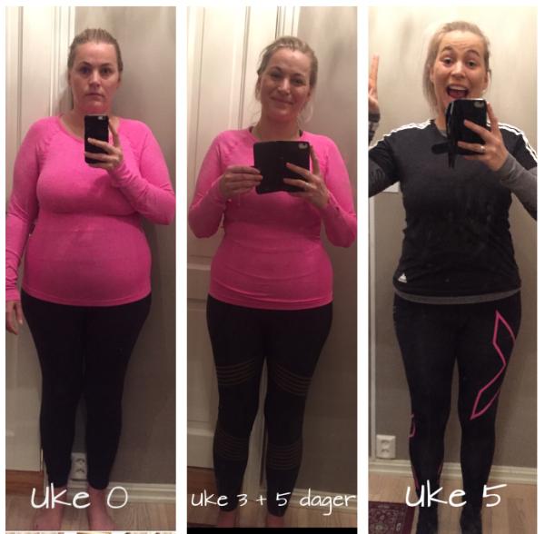 c2697e1b Det er 5 uker mellom det første bilde og det siste bildet. Det bildet i  midten er tatt etter 3 uker og 5 dager.
