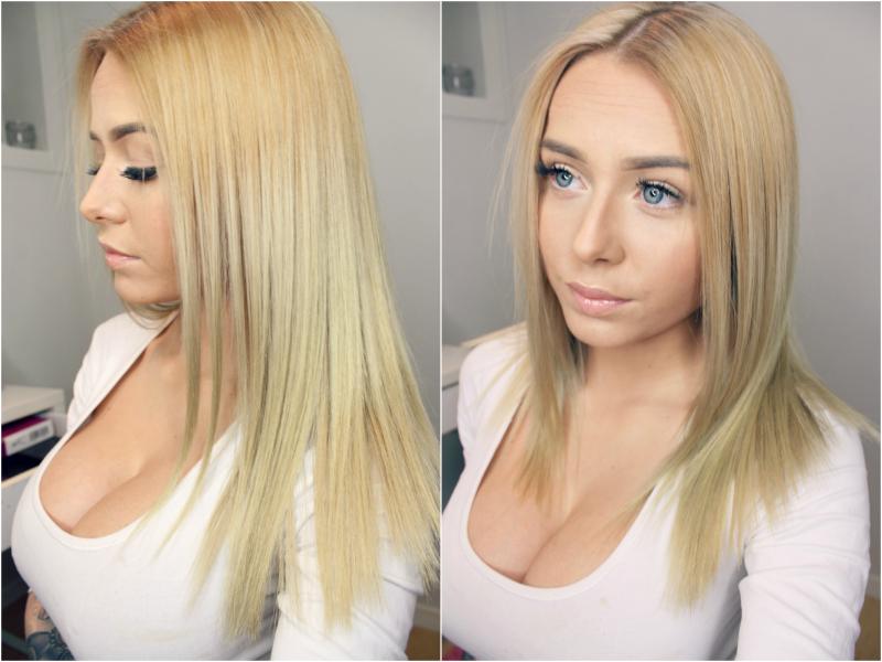 blåshampoo i tørt hår