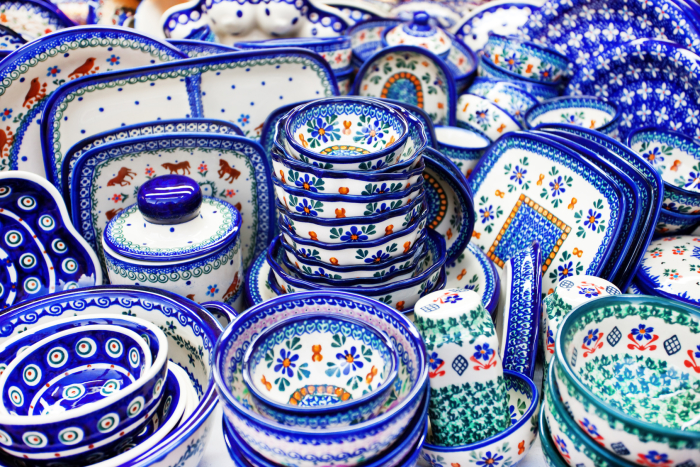 handmade traditional polish pottery