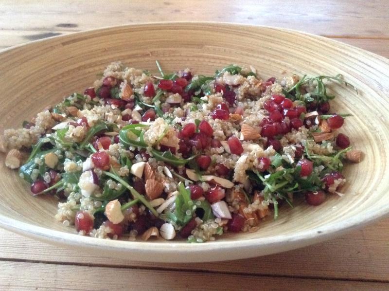 Quinoasalat med granateple