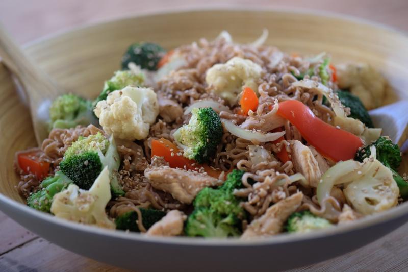 Fargerik wok