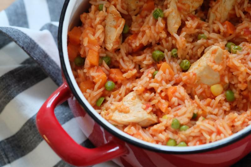Meksikansk kylling og ris