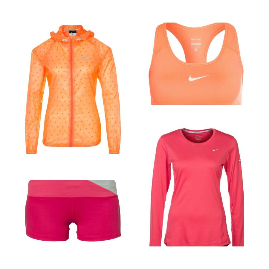 712b19c8 Løpejakke – Nike // Sportsbh – Nike // Shorts – Nike // Genser – Nike