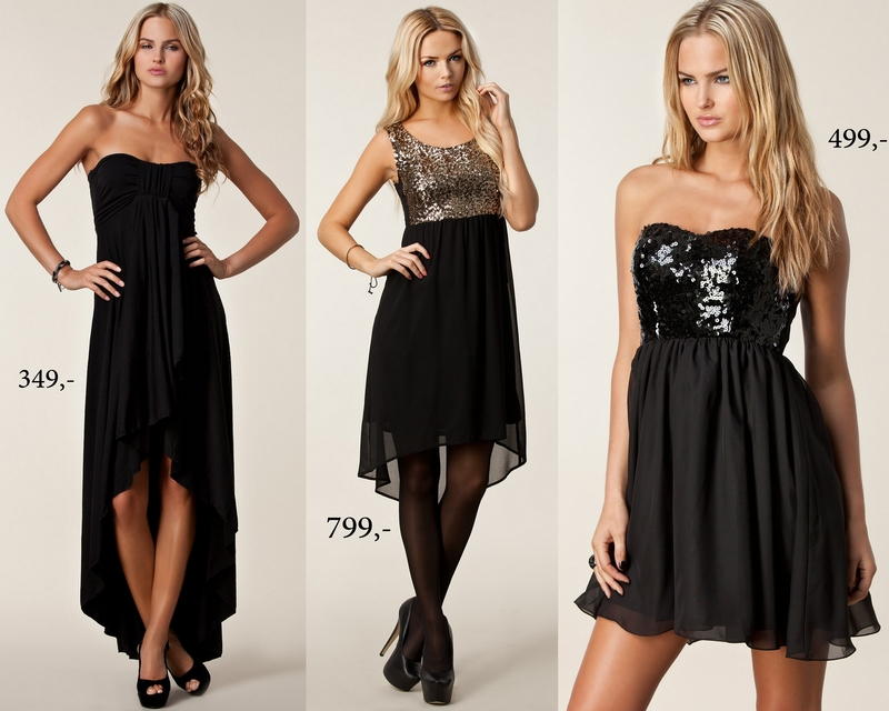 4c78e6fb Lang svart kjole – Her // Svart kjole med gull paljetter – Her // Svart  kjole med svarte paljetter – Her