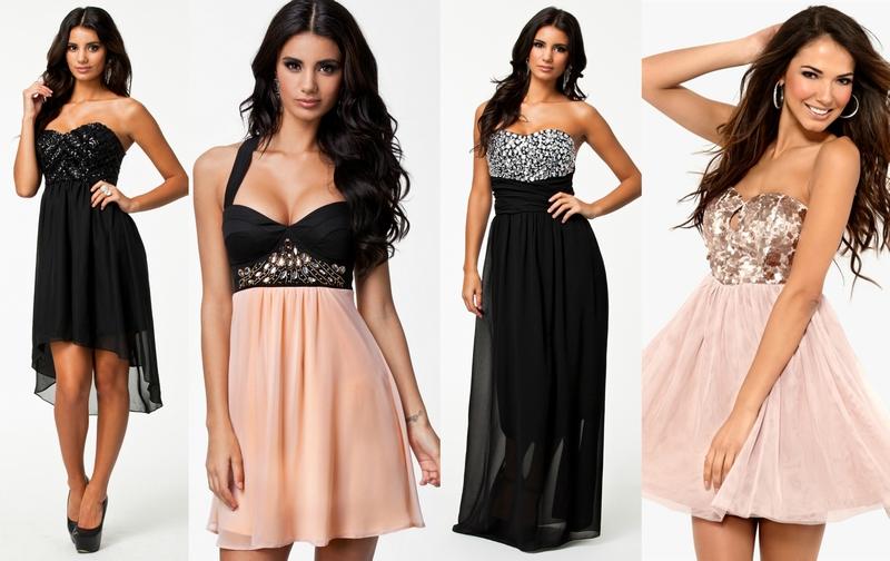 0279a0f4 Svart kjole med paljetter 399,- //Rosa og svart kjole 499,- //Lang svart  kjole med sølvpaljetter 499,- //Rosa kjole 319,-