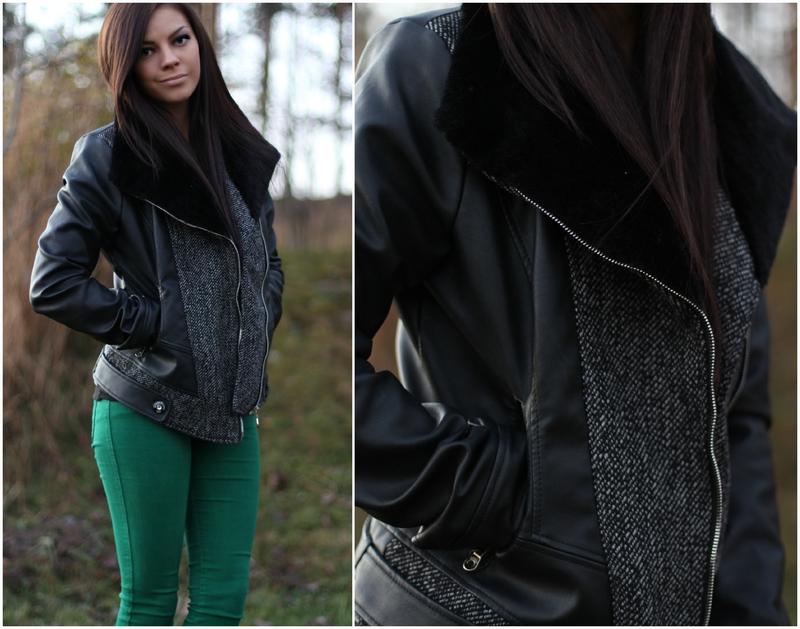 313aa87e Quilt detail winner leather jacket – Dette er absolutt favorittjakken min i  år. Jeg fikk den fra choies.com for noen uker siden, og siden det har jeg  blitt ...