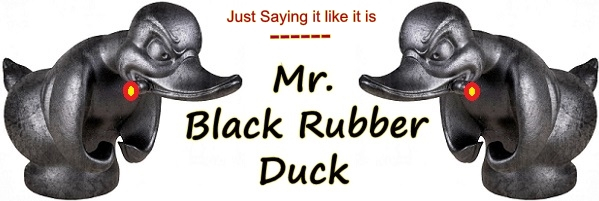 Mr. Black Rubber Duck